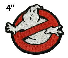"4"" GHOSTBUSTERS GHOST Movie Logo BUSTERS IRON-ON Embroidered Applique Patch"
