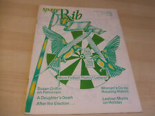 Spare Rib Women's Liberation Feminist Magazine Issue Number 134 September 1983
