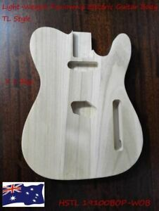 Haze Light-Weight Paulownia Electric Guitar Body, Pre-Polished HSTL19100BOP-WOB