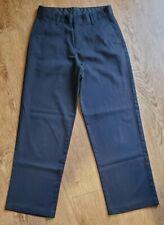 Van Huesan Black Dress Pants Boys Youth Size 12 Reg Flat Front
