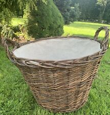 X Large Basket Linen Lined with handles 43 x 51cms