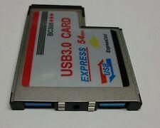 Express Card 2 PORTE USB 3.0 Slim Design #G823