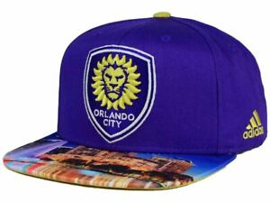 Orlando City SC adidas MLS Skyline Snapback Cap - Lions Logo Purple Soccer Hat