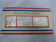 2 FRANKLIN MINT STERLING SILVER GREAT FLAGS OF AMERICA SPAIN & FRANCE ~ MINT!