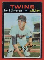 1971 Topps #26 Bert Blyleven VG-VGEX Rookie RC Minnesota Twins HOF FREE SHIPPING