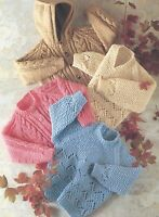 "Chunky Baby's Sweater and Jacket with Hood Knitting Pattern 20-30"" 527"