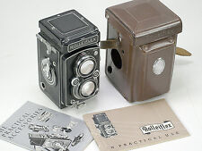 Rolleiflex 3.5 Automat( MX synch )TLR camera, 75mm Tessar w/ Cap, Case, & books