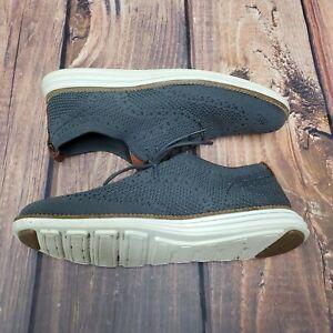 Cole Haan Mens Original Grand Oxfords Shoes Gray C27961 Wingtip Mesh Shoes 7.5 M