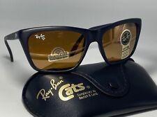 New listing New Vintage B&L Ray Ban Cats Diamond Hard 3000 Sunglasses Black Bausch & Lomb Bl