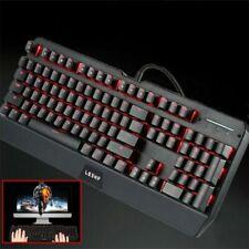Large Print LED Lighted Computer Keyboard Full Size USB Color Backlit Key 2.4GHZ