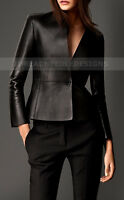 Womens Genuine Lambskin Motorcycle Real Leather Slim fit Coat/Jacket for Biker