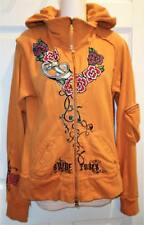 """JWLA JOHNNY WAS LA SIZE SMALL """"SUEDE ROSES MAIDEN TOUR"""" ZIP KNIT HOODIE JACKET"""