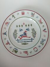 Johnson Brothers TWELVE DAYS OF CHRISTMAS 10 Ten Lords A Leaping Salad Plate