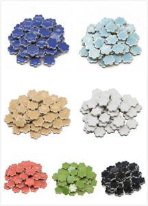 Plum Shape Ceramic Mosaic Tiles For Crafts Tessera Wall Arts DIY Hand Pieces