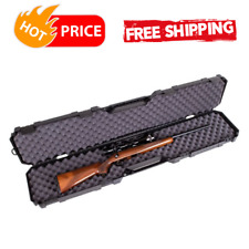 Shotgun Case Hard 50.5 inch Rifle Carry Tactical Gun Padded Storage Box, Black
