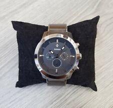 Montre Homme FOSSIL FS4680 - Watch, Acier Gris, Stainless Steel, cadran noir