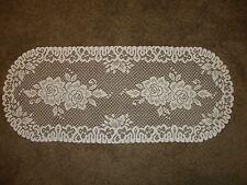 Ivory lace  Roses design Runner/Dresser scarf