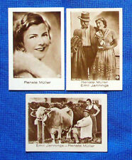 Renate Müller 1931 Jasmatzi Hansom Film Star Cigarette Cards Lot of 3