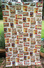 COMIC     CURTAIN   Multicoloured      Retro VINTAGE Fabric.