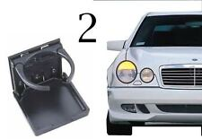 2 CHARCOAL MERCEDES BENZ STOCK LOOK 300 E320 CUPHOLDER CUP DRINK HOLDER W124