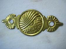 """New listing Vintage Escutcheon, Stamped Brass Backplate, 4 5/8"""" x 2"""" , 1 Pc."""