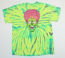 Rare Santa Cruz Mars Attacks Topps Skateboard Tie Dye Movie Promo Shirt Large