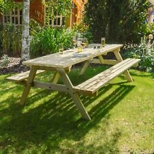 Oakham Outdoor Pub Style Picnic Bench - 6ft - Pressure Treated - Hand Made In UK