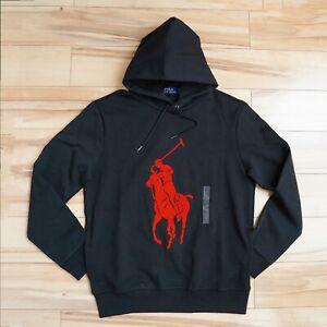 Men Polo Ralph Lauren Big Pony Double Knit Pullover Hoodie STANDARD FIT S-XXL