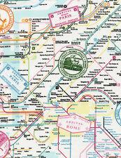 EUROPEAN ADVENTURE ~ Paris~ New York~ Rome~ London~ Maps ~TRAVEL ~Fabric~ 1/2 yd