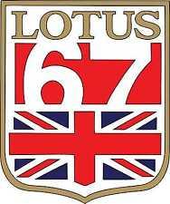 Vintage Race Stickers  Lotus 67 Racing Graphics Race Car Decals - Black