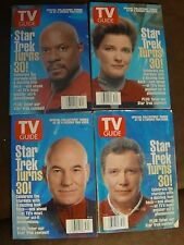 TV GUIDE Star Trek Captains ALL FOUR COVERS 1996 Fine Condition