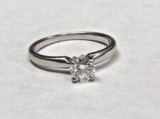 14k White Gold Leo Diamond Solitaire Engagement Ring