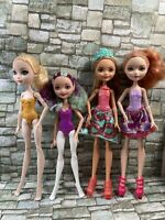 Ever After High - 4 Doll Lot - Not Fully Articulated - Used