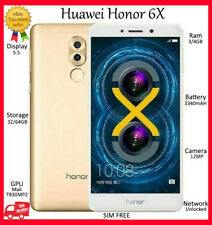 "Huawei Honor 6X DUAL SIM GOLD 64GB =UNLOCKED=4GB 5.5"" 3340mAh ANDROID Smartphone"