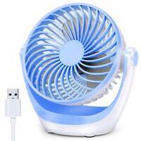 USB Tisch Ventilator Kleiner Tisch Ventilator mit Starkem Luftstrom , Tragb W4K1