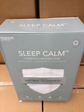 Sleep Calm Queen 9-Inch Mattress Encasement with Stain and Bed Bug Defense (NEW)