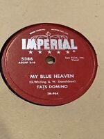 """78 10"""" Fats Domino Imperial 5386 My Blue Heaven / I'm In Love Again EX"""