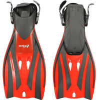 Two Bare Feet Adults Fins Flippers - Scuba Diving Swimming Snorkelling