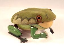 Rarissime ancien jouet grenouille mécanique Tôle Gunthermann 1948-1953 Germany