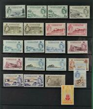 GIBRALTAR STAMPS ELIZABETH SET + VARIETIES ALL STAMPS SHOWN ARE DIFFERENT (C139)