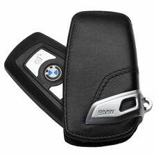 Genuine Leather Car Key Case Sport Line FOB Holder For BMW 2 3 5Series X3-Black