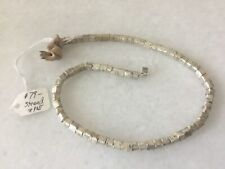 New With Tag $79 Authentic Sterling Silver Brushed Cube (70) Beads No Res New