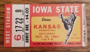 Iowa St Kansas Jayhawks Football Ticket Stub 10/10 1964 Gale Sayers Only TD Pass
