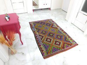 Antique Rug 3.4x5.3,Turkish Rug,Old Floor Mat,Handmade Rug,Oushak Rug,Boho Rug.