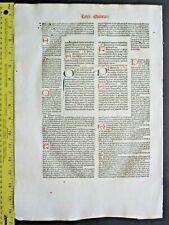 Huge Incunabula Lf.Gregorius,Decretales,12 red&2blue initiials,Drach,Speyer,1486