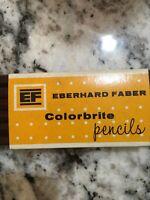 Vintage Eberhard Faber Colorbrite Colored Pencils 12 Pencils - Dark Brown 2123