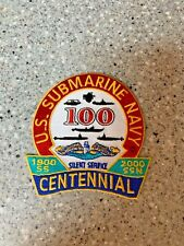 "Rare Us Submarine Navy Patch Centennial 100 Years 4 1/2"""