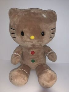 """Hello Kitty Build A Bear 20 """" Gingerbread Plush Toy Doll Collectable Tan W' Trim"""