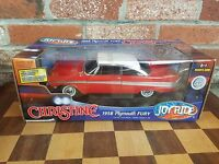 Ertl 1958 Plymouth Fury Christine Movie Car 1:18 Die Cast Red White W-Lights New