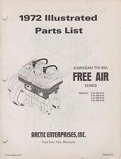 1972 ARCTIC CAT SNOWMOBILE ENGINE KAWASAKI T1A-R1A FREE AIR  PARTS MANUAL (081)